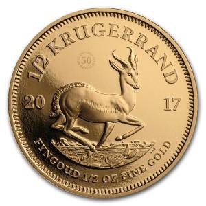 Zlatá mince 50. výročí Krugerrand 1/2 oz proof 2017