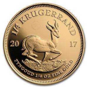Zlatá mince 50. výročí Krugerrand 1/4 oz proof 2017