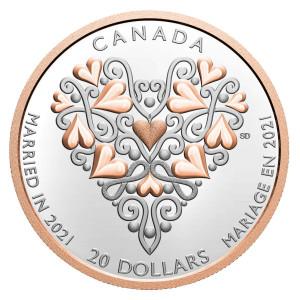 Stříbrná mince Blahopřání k svatbě 1 oz proof 2021