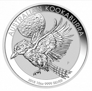 Stříbrná mince Kookaburra 10 oz 2018