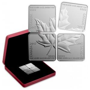 Stříbrná mince Maple Leaf kvartet 2017
