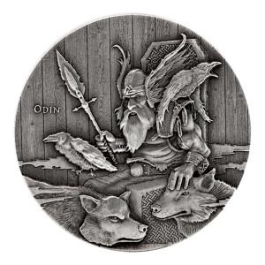 Stříbrná mince Vikingové - Odin 2 oz vysoký reliéf  2015