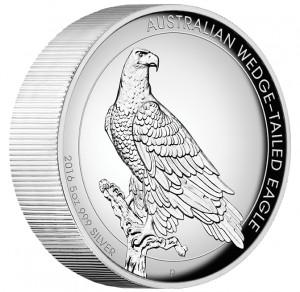Stříbrná mince Orel klínoocasý 5 oz proof vysoký reliéf 2016