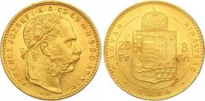 8 Gulden 1889 Franz Joseph I.