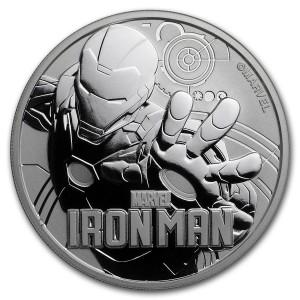 Stříbrná mince Marvel - Ironman 1 oz