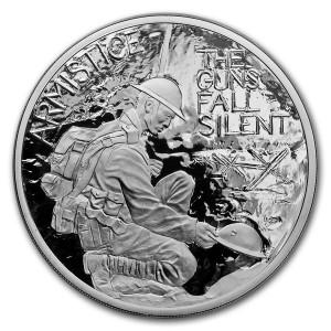 Stříbrná mince Armistice UK 5 oz proof Coin 2018