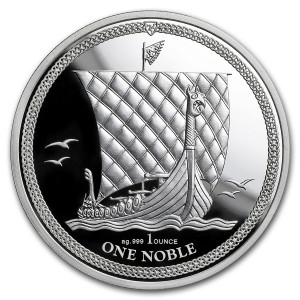 Stříbrná mince Noble Isle of Man 1 oz proof 2018