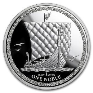 Stříbrná mince Noble Isle of Man 1 oz proof 2018