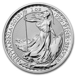 Stříbrná mince Britannia 1 oz
