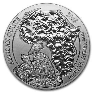Stříbrná mince African Shoebill Rwanda 1 oz 2019