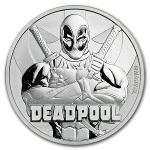 Stříbrná mince Marvel - Deadpool 1 oz BU 2018