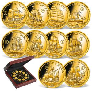 Sada zlatých mincí Nejslavnější lodě světa 10 x 0,5 g  2018