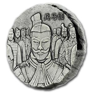 Stříbrná mince Terakotová armáda 5 Oz antique polished 2018