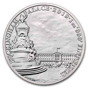 Stříbrná mince Památky Británie - Buckinghamský palác 1 Oz 2019