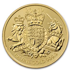 Zlatá mince Královské erby 1 oz 2019