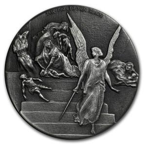 Stříbrná mince Biblická série Smrt prvorozených 2 oz 2019