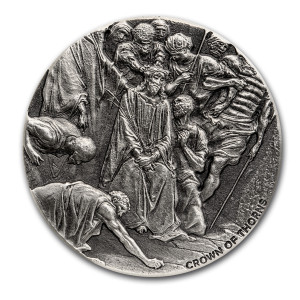 Stříbrná mince Biblická série Trnová koruna 2 oz 2019