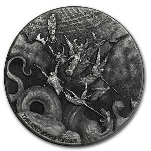 Stříbrná mince Biblická série Korunovaná panna 2 oz 2019