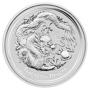 Stříbrná mince Rok Draka 1 oz BU 2012