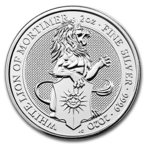 Stříbrná mince The Queen's Beasts White Lion 2 oz