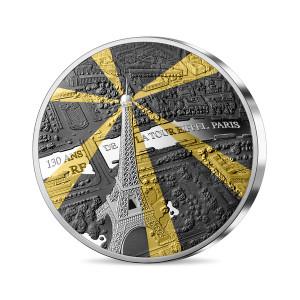 Stříbrná mince Eiffelova věž 5 Oz - poklady Paříže