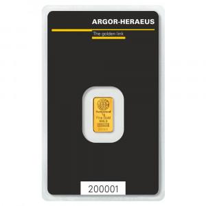 Zlatý investiční slitek 1 g Argor-Heraeus