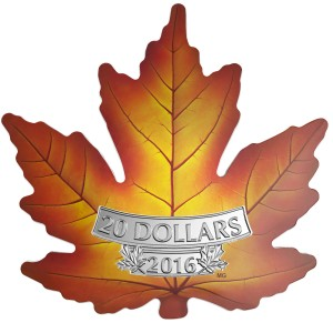 Stříbrná mince Maple Leaf 1 oz kolor
