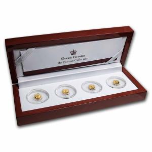 Sada zlatých mincí Portréty Královny Viktorie 4 x 0,5 g proof 2019