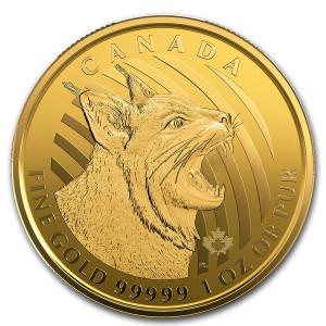 Zlatá mince Bobcat 1 oz 2020