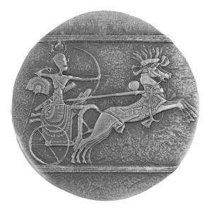 Stříbrná mince Válečný vůz 5 oz antique finish 2020