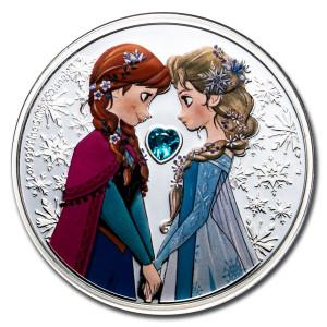 Stříbrná mince Disney Frozen Sisters Forever 1 oz