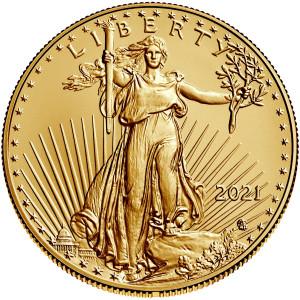 Zlatá mince American Eagle 1 oz New design 2021
