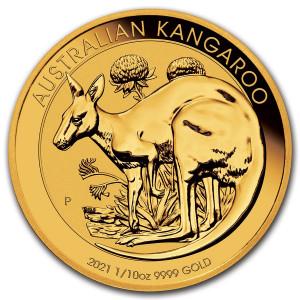 Zlatá mince Klokan 1/10 oz