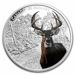 Stříbrná mince Jelen 2 oz 2021