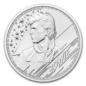 Stříbrná mince Hudební legendy - David Bowie 1 oz BU 2021