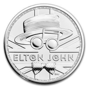 Stříbrná mince Hudební legendy - Elton John 1 oz BU 2021