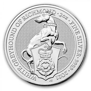 Stříbrná mince The Queen's Beasts White Greyhound of Richmond 2 oz