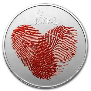 Stříbrná mince Love 1/2 oz proof 2021