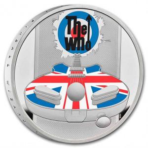 Stříbrná mince Hudební legendy - The Who 1 oz proof, kolorovaná 2021