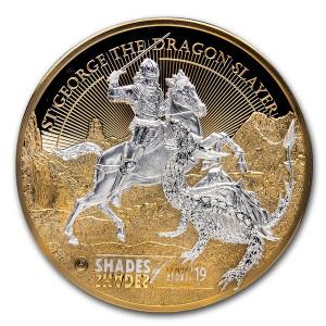 Stříbrná mince Svatý Jiří 1 kg vysoký reliéf 2019