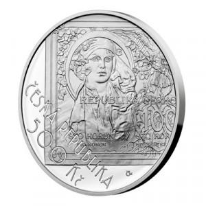 Stříbrná mince Zahájení vydávání československých platidel 25 g proof 2019