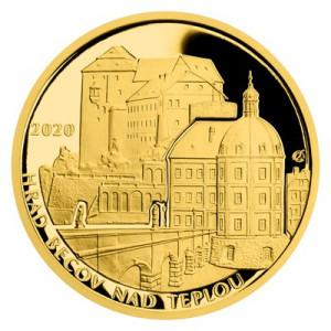 Zlatá mince hrad Bečov nad Teplou 1/2 oz proof 2020