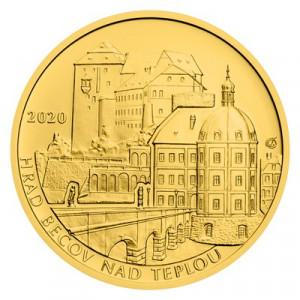 Zlatá mince hrad Bečov nad Teplou 1/2 oz bk 2020