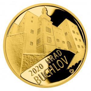 Zlatá mince hrad Buchlov 1/2 oz proof 2020
