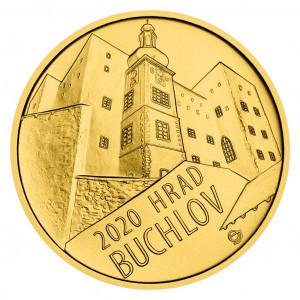 Zlatá mince hrad Buchlov 1/2 oz b.k. 2020