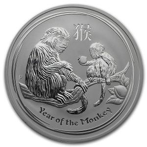 Stříbrná mince Rok Opice 1 oz BU 2016 Lunární série II