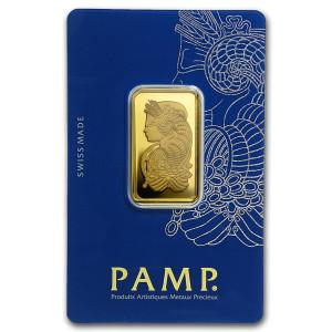 Zlatý investiční slitek 20 g PAMP