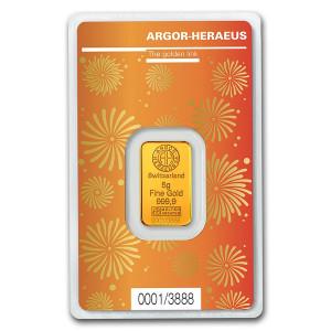 Zlatý investiční slitek Rok Buvola 2021 5 g Argor-Heraeus