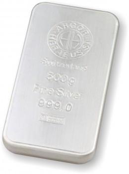 Stříbrný investiční slitek 500 g