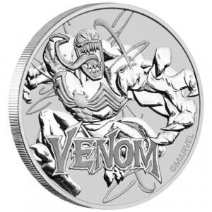 Stříbrná mince Marvel - Venom 1 oz BU 2020